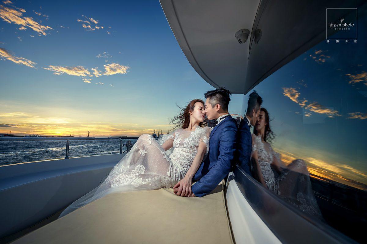 綠攝影像,武少,台灣婚紗,遊艇婚紗