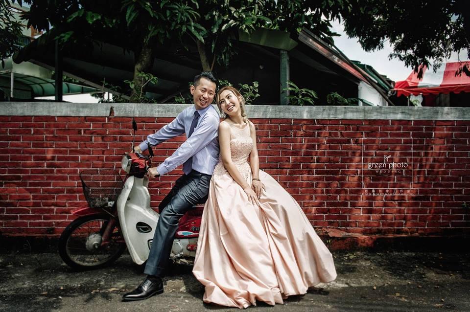 復古風婚紗照