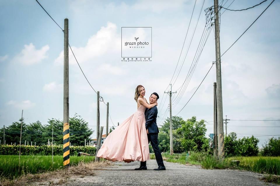 粉紅禮服婚紗照