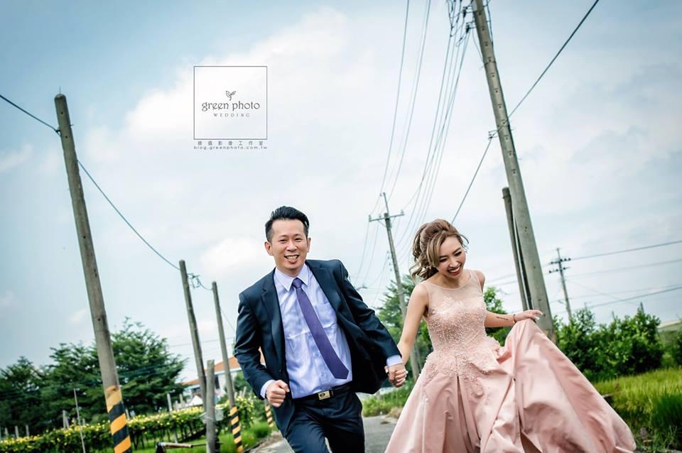 訂婚粉紅禮服